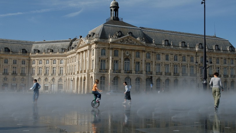 Bordeaux architecture XVIII ème, La Place de la Bourse, Bordeaux (33).